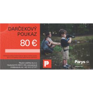 Darčeková poukážka Parys.sk na nákup tovaru v hodnote 80€ - tlačená
