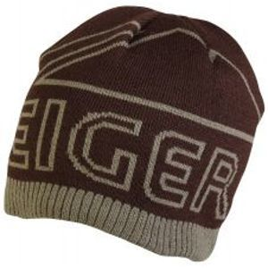Eiger Čiapka Logo Knitted Hat With Fleece Lining Brown
