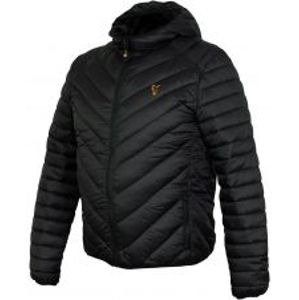 Fox Bunda Collection Quilted Jacket Black Orange-Veľkosť L