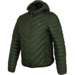 Fox Bunda Collection Quilted Jacket Green Silver-Veľkosť XXXL