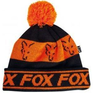 Fox Čiapka Black Orange Lined Bobble