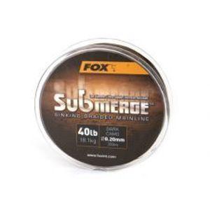 Fox Pletená šnúra Submerge Dark Camo 0,30 mm 50 lb-Návin 300 m