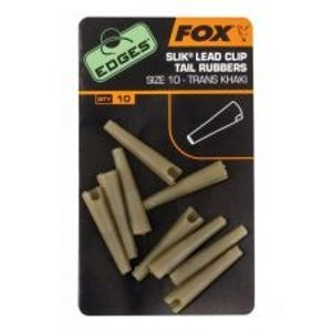 Fox Prevleky Edges Size 10 Slik Lead Clip Tail Rubber Trans Khaki
