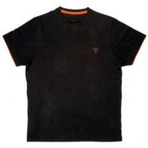Fox Tričko Cotton T-Shirt Black Orange-Veľkosť L