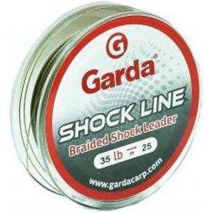 Garda Náväzcová Šnúra Shock Line Zelená 25 m-Nosnosť 35 lb