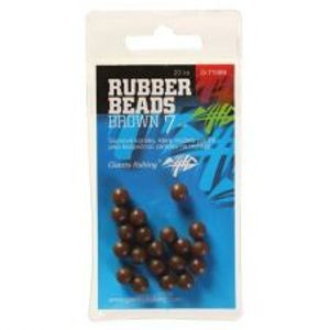 Giants Fishing Gumové Guličky Rubber Beads Transparent Brown  -5 mm