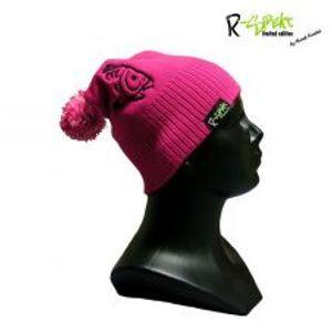 R-spekt Detská čiapka PomPom DUO beanie ružová