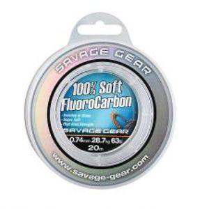Savage Gear Fluorocarbon Soft Fluoro Carbon 35 m-Priemer 0,46 mm / Nosnosť 12,3 kg