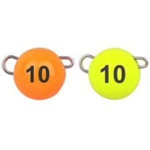 Spro Jigová Hlavička Freestyle Tungsten Bottom Jig Glow Fluo Orange/Chartreuse-3 g
