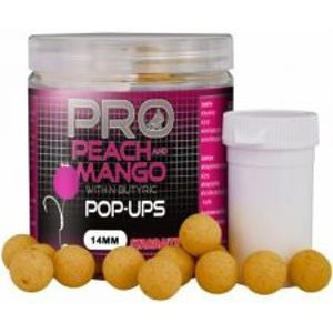 Starbaits Plávajúce Boilie Probiotic Pop Up Peach Mango 60 g-10 mm