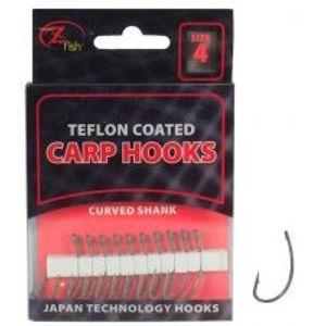 Zfish Teflonové Háčiky Curved Shank 10 ks-Veľkosť 4